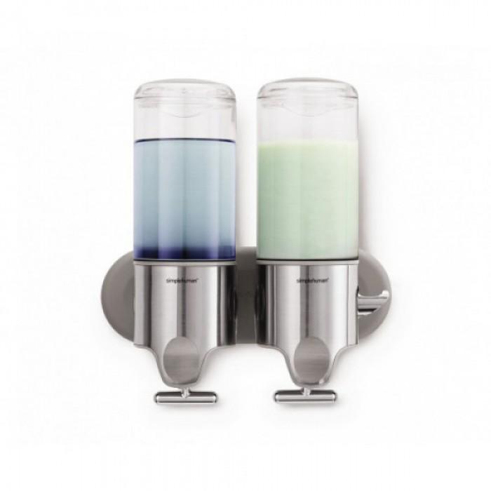 Дозатор для жидкого мыла двойной 2х0,444л.