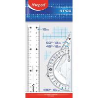 Набор линеек Essentials Mini 15см, (4 предмета)  MP.242815