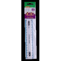 Линейка пластиковая 15см (с голубой полосой) ZB.5606-14