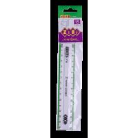 Линейка пластиковая 15см (с салатовой полосой) ZB.5606-15