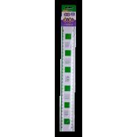 Лінійка пластикова універсальна з таблицею множення, 30 см. (салатова) ZB.5607-15
