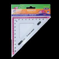 Кутник 100мм. 90/45°( з рожевою смугою)  ZB.5620-10