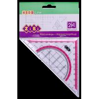 Кутник  2 в 1 (з рожевою смугою) ZB.5623-10