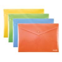 Папка-конверт на кнопці  В5+, непрозора (асорті) 1413-20-A