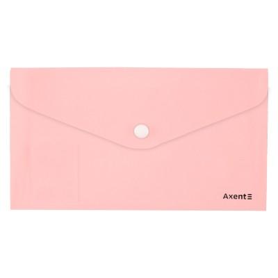 Папка-конверт на кнопці DL Pastelini (рожевий) 1414-10-A