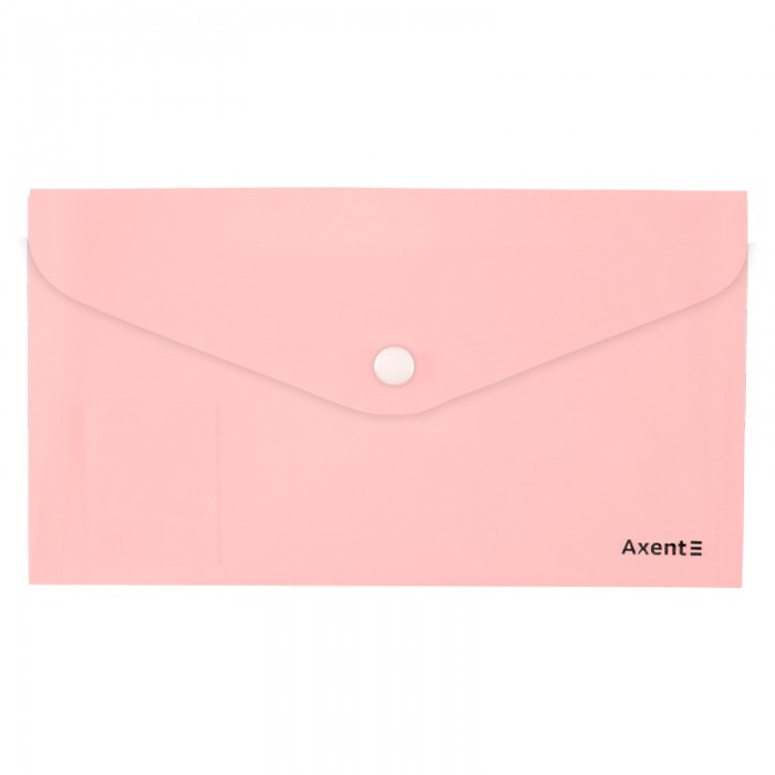 Папка-конверт на кнопке DL Pastelini (розовый) 1414-10-A
