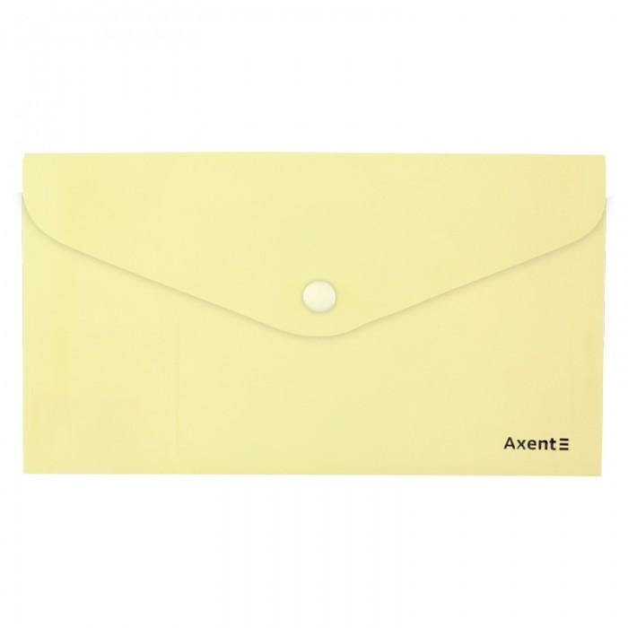 Папка-конверт на кнопці DL Pastelini (жовтий) 1414-08-A