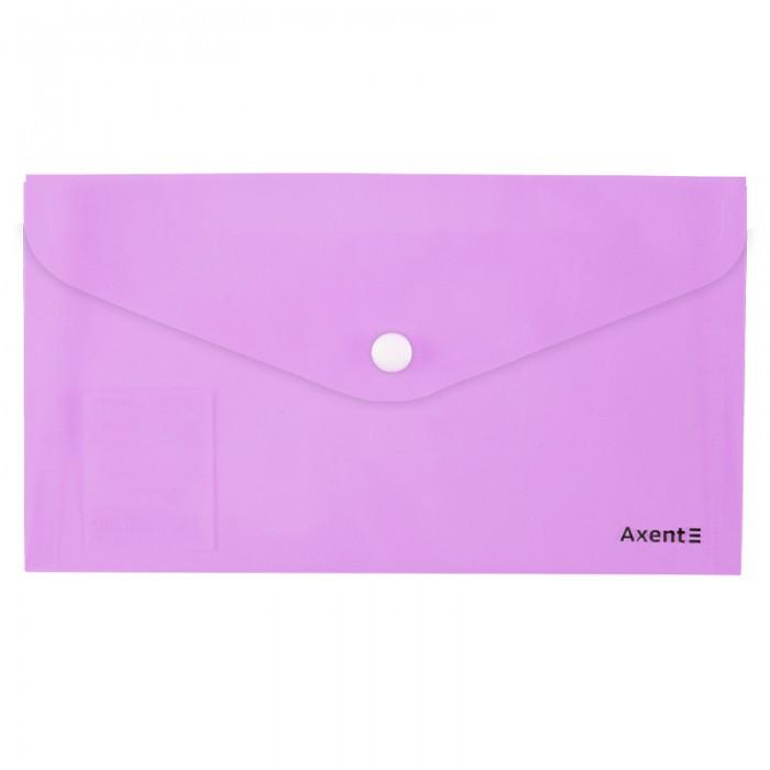 Папка-конверт на кнопці DL Pastelini (бузковий) 1414-36 A