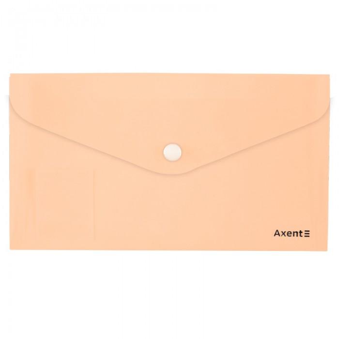 Папка-конверт на кнопці DL Pastelini (персиковий) 1414-42-A