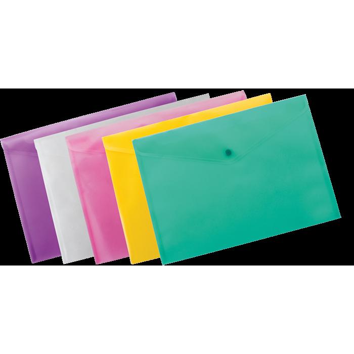 Папка-конверт на кнопці А4 (асорті) bm.3926-99