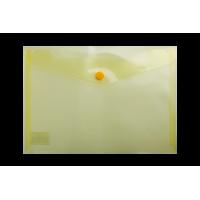 Папка-конверт на кнопке А5 (желтая) bm.3936-11