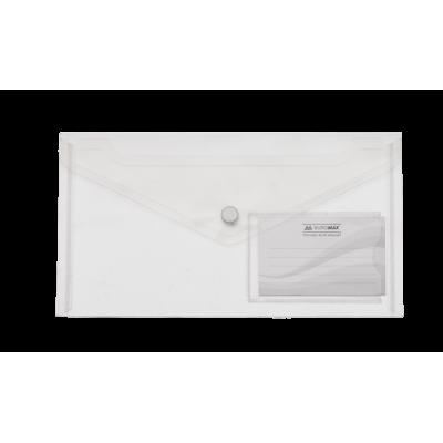 Папка-конверт на кнопке (прозрачная) DL  bm.3938-00