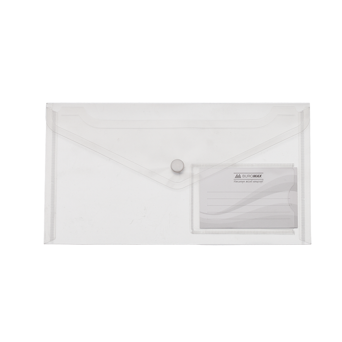 Папка-конверт на кнопці (прозора) DL  bm.3938-00
