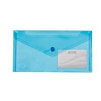 Папка-конверт на кнопке (синий) DL  bm.3938-02