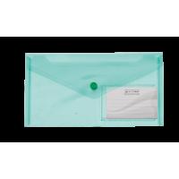 Папка-конверт на кнопці (зелений) DL  bm.3938-04