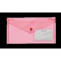 Папка-конверт на кнопке (красный) DL bm.3938-05