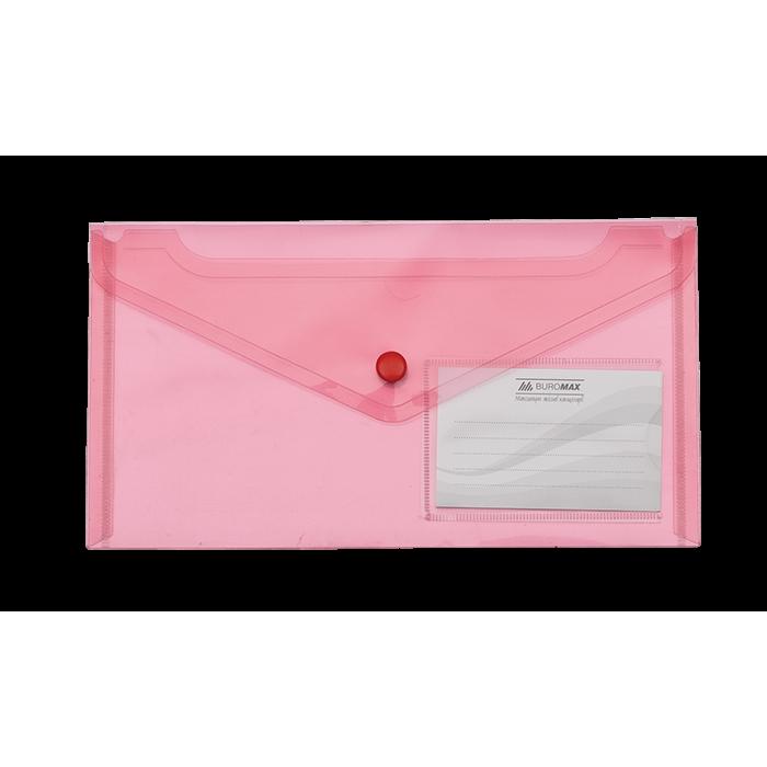 Папка-конверт на кнопці (червоний) DL bm.3938-05
