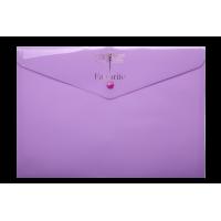 Папка-конверт на кнопке А4 Favorite Pastel (сиреневый) BM.3953-26
