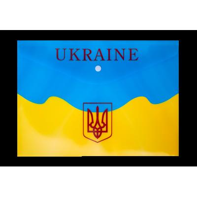 Папка-конверт на кнопке А4 UKRAINE (желтая)