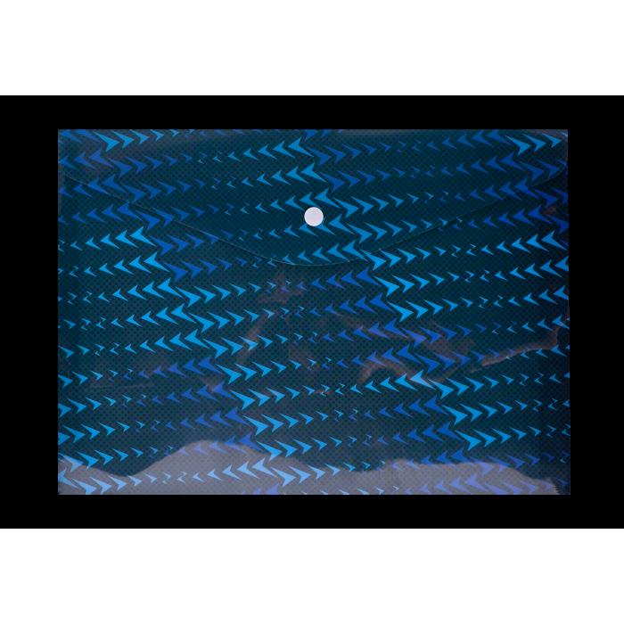 Папка-конверт на кнопке А4 FLASH (синяя)