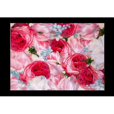 Папка-конверт на кнопке А4 ROMANCE (розовая)