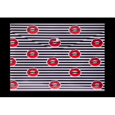 Папка-конверт на кнопке А4 LIPS (красная)