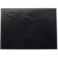 Папка-конверт на кнопці А4 (чорна) bm.3925-01