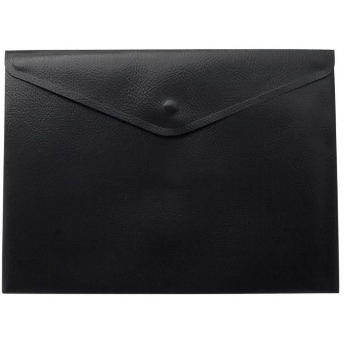 Папка-конверт на кнопке А4 (черная) bm.3925-01