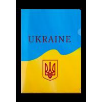 Папка-куточок А4 UKRAINE (жовта)