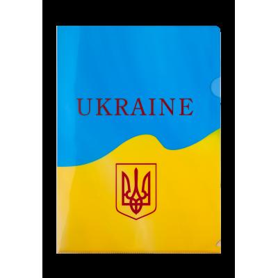 Папка-уголок А4 UKRAINE (желтая)