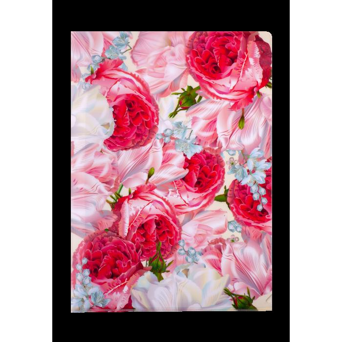 Папка-куточок А4 ROMANCE (рожева)