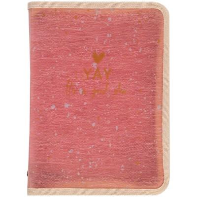 Папка об'ємна на блискавці А4+ Shade Coral 1804-14-a