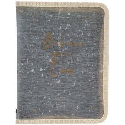 Папка объемная на молнии А4+ Shade Green 1804-15-a
