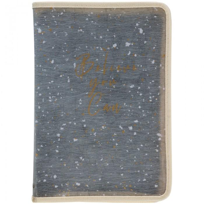 Папка объемная на молнии А5+ Shade Green 1805-15-a