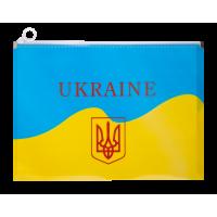 Папка на молнии zip lock UKRAINE А4 желтая
