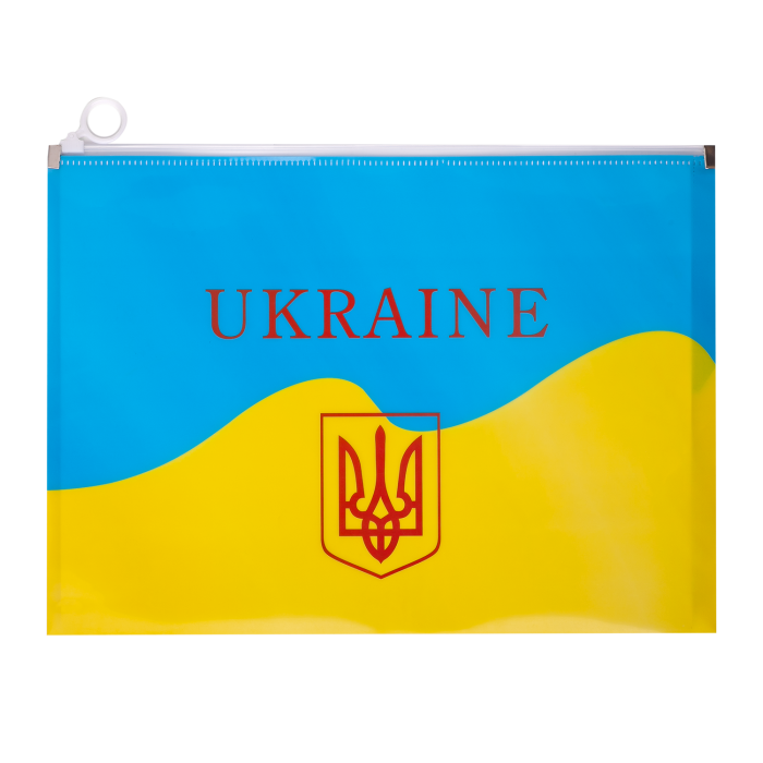 Папка на блискавці zip lock UKRAINE А4 жовта