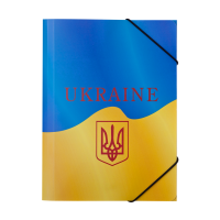 Папка на резинке В5 UKRAINE (желтая)