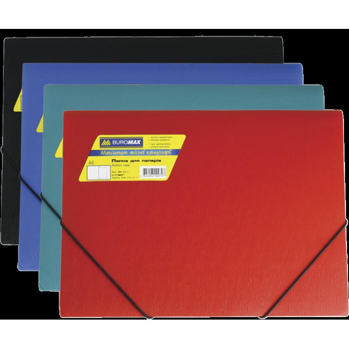 Папка на резинках А4 Jobmax (ассорти) bm.3911-99