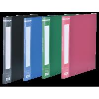 Папка з 10 файлами А4, гладкий пластик (асорті) bm.3601-99