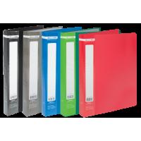 Папка с 40 файлами А4, гладкий пластик (ассорти) bm.3617-99