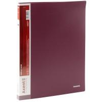 Папка с 20 файлами А4 (бордовый) 1020-04-A
