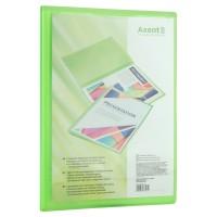 Папка с 20 файлами с карманом на лицевой стороне А4 (зеленый) 1020-26-a