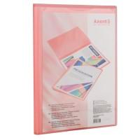 Папка з 20 файлами з кишенею на лицьовій стороні А4 (рожевий) 1020-24-a
