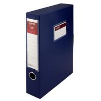 Папка-коробка на липучці, 60мм. А4 (синій) 1760-02-A