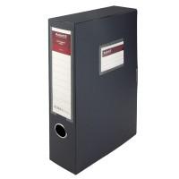 Папка-коробка на липучці, 60мм. А4 (сірий) 1760-03-A