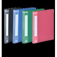 Папка зі швидкозшивачем, А4, гладкий пластик (асорті) bm.3407-99