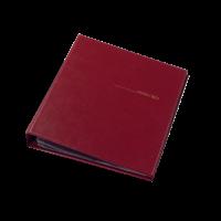 Визитница для 400 визиток (бордовый) 0304-0009-10