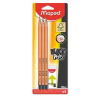 Карандаш графитный с ластиком в наборе Black Peps HB 6шт/уп