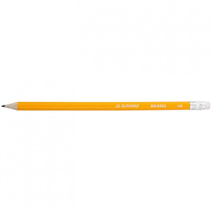 Карандаш графитовый НВ с ластиком bm.8500