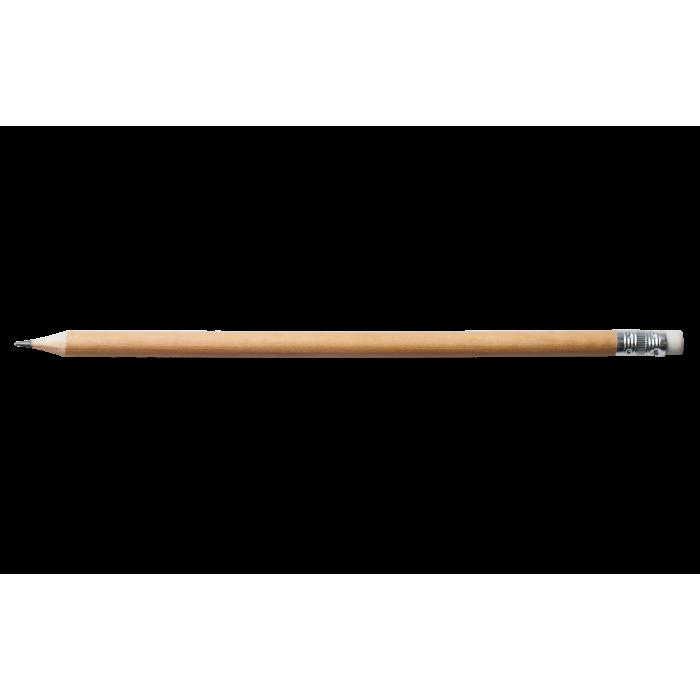 Карандаш графитовый, бесцветный НВ с ластиком BM.8518(144)